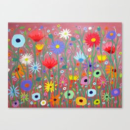 Flowers-Abstracts  Canvas Print