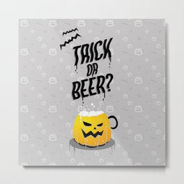 Trick or Beer? Light theme Metal Print