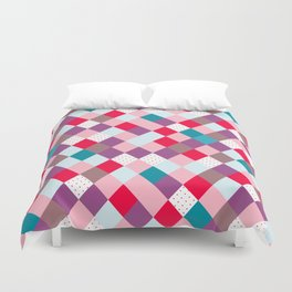 Harlequin pattern vintage circus Duvet Cover