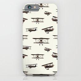 Retro airplanes iPhone Case