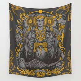 IBERIAN HECATE gray Wall Tapestry