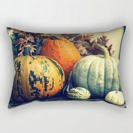 Autumn Pumpkin Gourd Still Life Rectangular Pillow