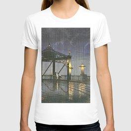 12,000pixel-500dpi - Kawase Hasui - Twenty Views Of Tokyo, Shinohashi Bridge T-shirt