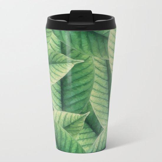 Greenery leaves II Metal Travel Mug