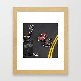 #Earnhardt Sr. & Jr. 1st Daytona 500 win. Framed Art Print