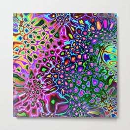 Spectrum of Abstract Shapes Metal Print