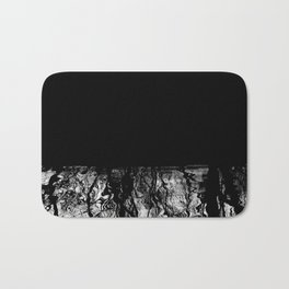 Black and White Tree Branch Silhouette Reflections Bath Mat