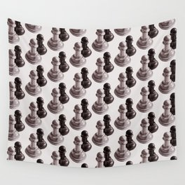 Chess Pawns Pattern Wall Tapestry