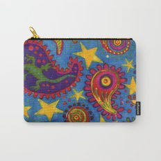 Lizard Paisley Batik Carry-All Pouch