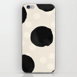 Ink Blots - black iPhone Skin