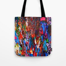 color mix / palette knife abstract Tote Bag