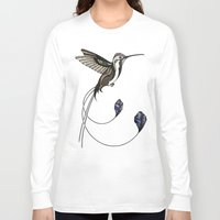 hummingbird Long Sleeve T-shirts featuring Hummingbird by Andreas Preis