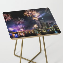 New Year Fireworks Side Table