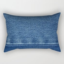 Blue Jean Texture V4 Rectangular Pillow