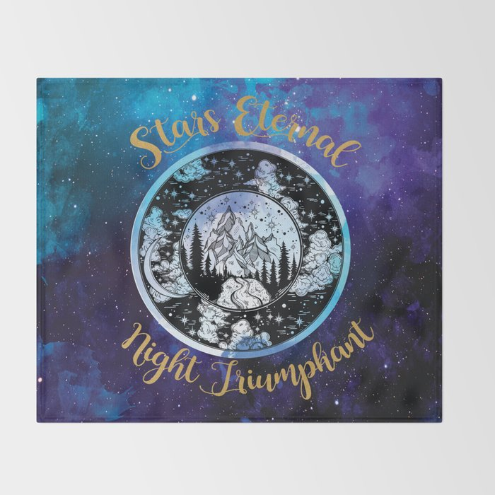 A Court of Mist and Fury - Stars Eternal Night Triumphant Throw Blanket