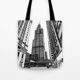On the Shoulders of Giants - Original Drawing Tote Bag