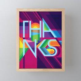 Thanks - Appreciation Nation Framed Mini Art Print