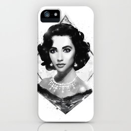 The Queen of Diamonds  |  Liz Taylor iPhone Case