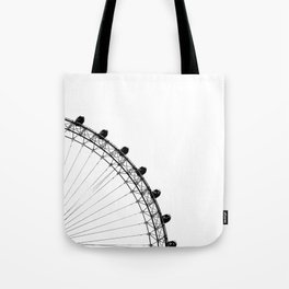 The Ferris Wheel (Black and White) Tote Bag