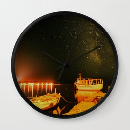 Milky Way over Croatia Wall Clock