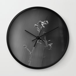 Black and white buds Wall Clock