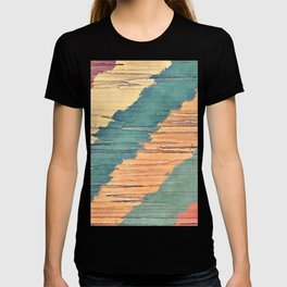 Abstract Shredded Stripes T-shirt