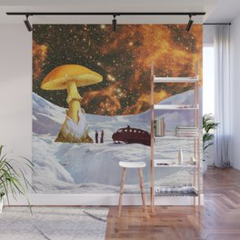 Withe Planet Wall Mural