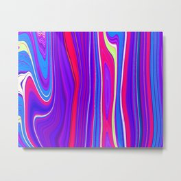 Twiggy Stripes cv3 Metal Print