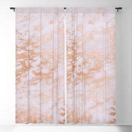 Pastel Lavender Marble Rosegold Glitter Pink Blackout Curtain