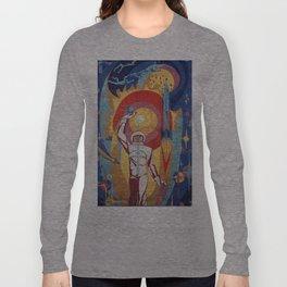 cosmonaut mosaic Long Sleeve T-shirt