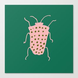 Beetle green Canvas Print