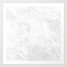 light grey geometry Art Print