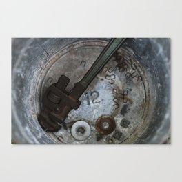 wrench and rust Canvas Print