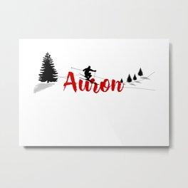 Ski at Auron Metal Print