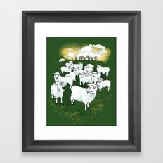 Hide & Sheep Framed Art Print