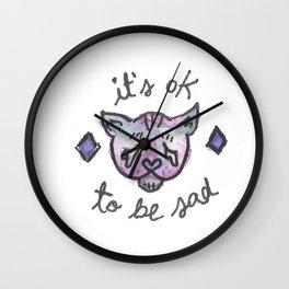 It's OK to be Sad Wall Clock