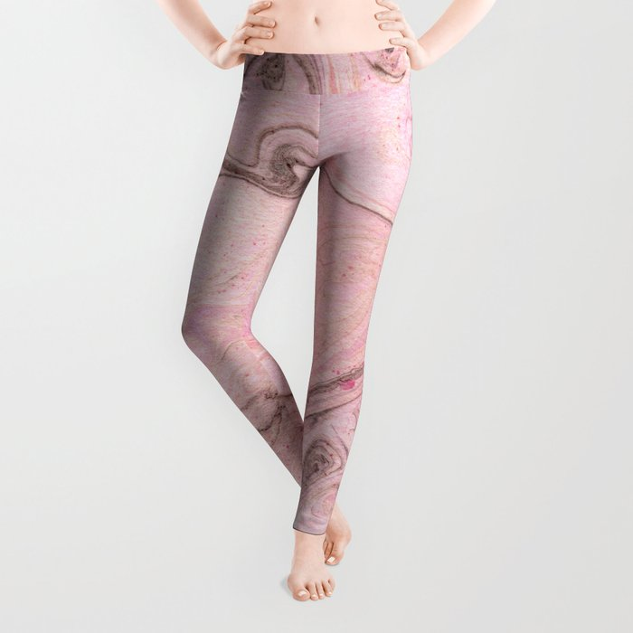 Marbly Pink Leggings