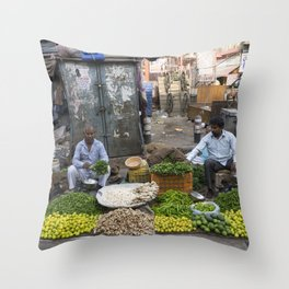 Limes Lemons and spices Throw Pillow
