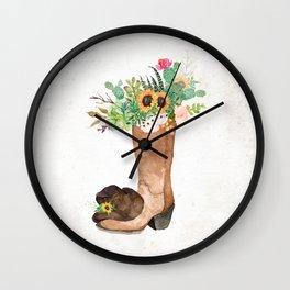 Southwestern Sunflower Wall Clock