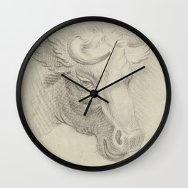 Pieter de Goeje - Kop van een koe Wall Clock