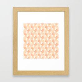 Geometric zigzag pattern Framed Art Print