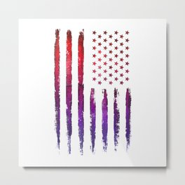 Red & blue gradient USA flag Metal Print