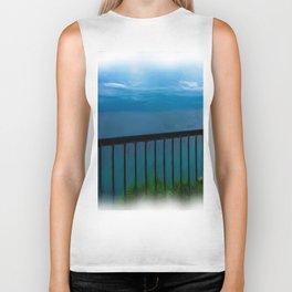 view of the infinite blue sea oil painting Biker Tank