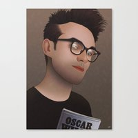 the smiths Canvas Prints featuring Morrissey (The Smiths) by AdamSteve