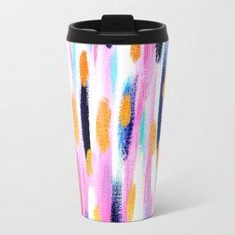 Pink And Navy Abstract Travel Mug