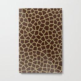 Giraffe Print Pattern Metal Print