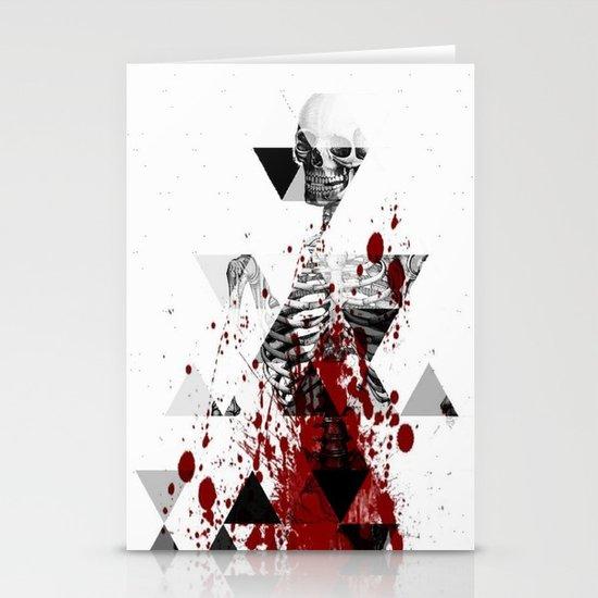 tri bomb skeleton                              Stationery Cards