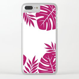 Paradise in Wine Clear iPhone Case