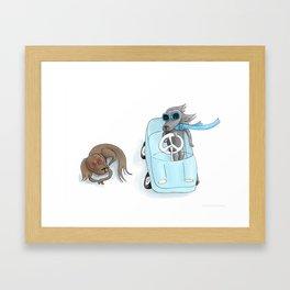 Dachshund Driver Framed Art Print