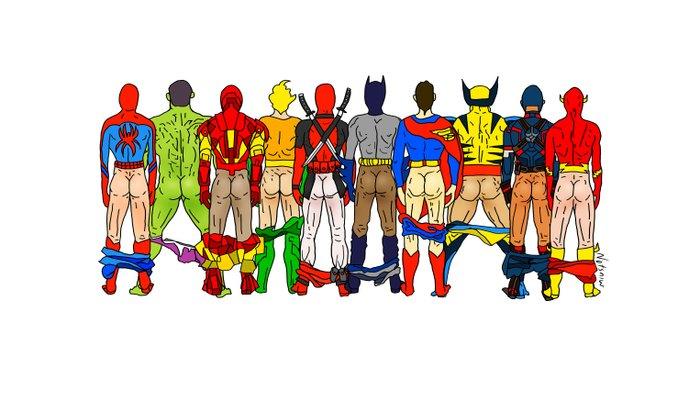 Superhero Butts Pillow Sham